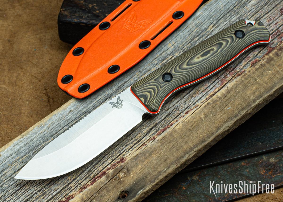 """Benchmade Knives: 15002-1 Saddle Mountain Skinner - Richlite / Orange G-10 - 4.2"""" CPM-S90V primary image"""