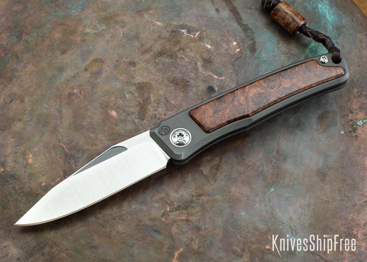 Arno Bernard Knives: Rinkhals Titanium Slipjoint - Desert Ironwood - 080509 primary image