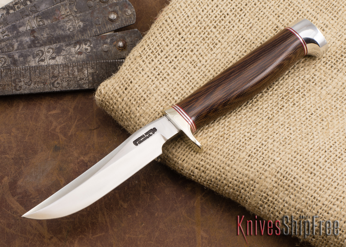 Randall Made Knives: Model 7 Fisherman / Hunter - Brown Micarta - Crow's Beak Pommel - Stainless Steel - 082057 primary image