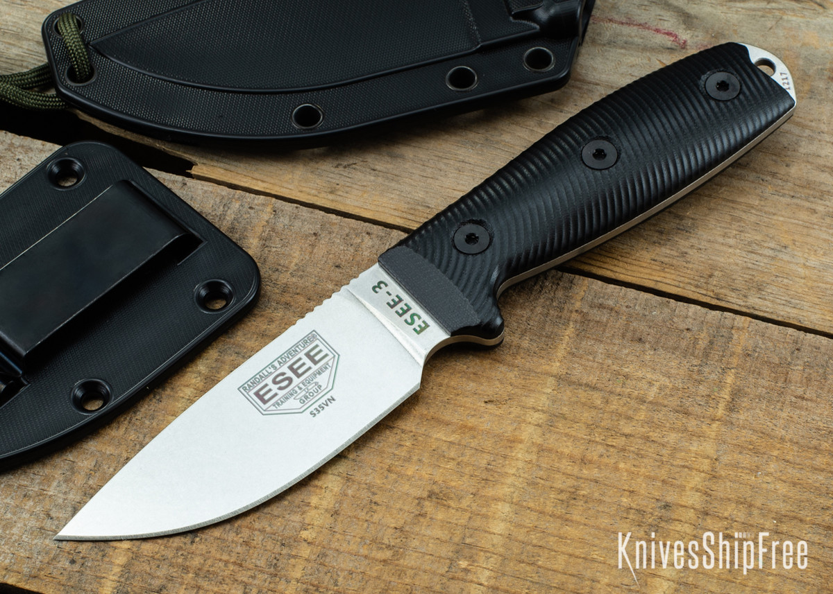 ESEE Knives: ESEE-3P - Black 3D G-10 - CPM-S35VN primary image