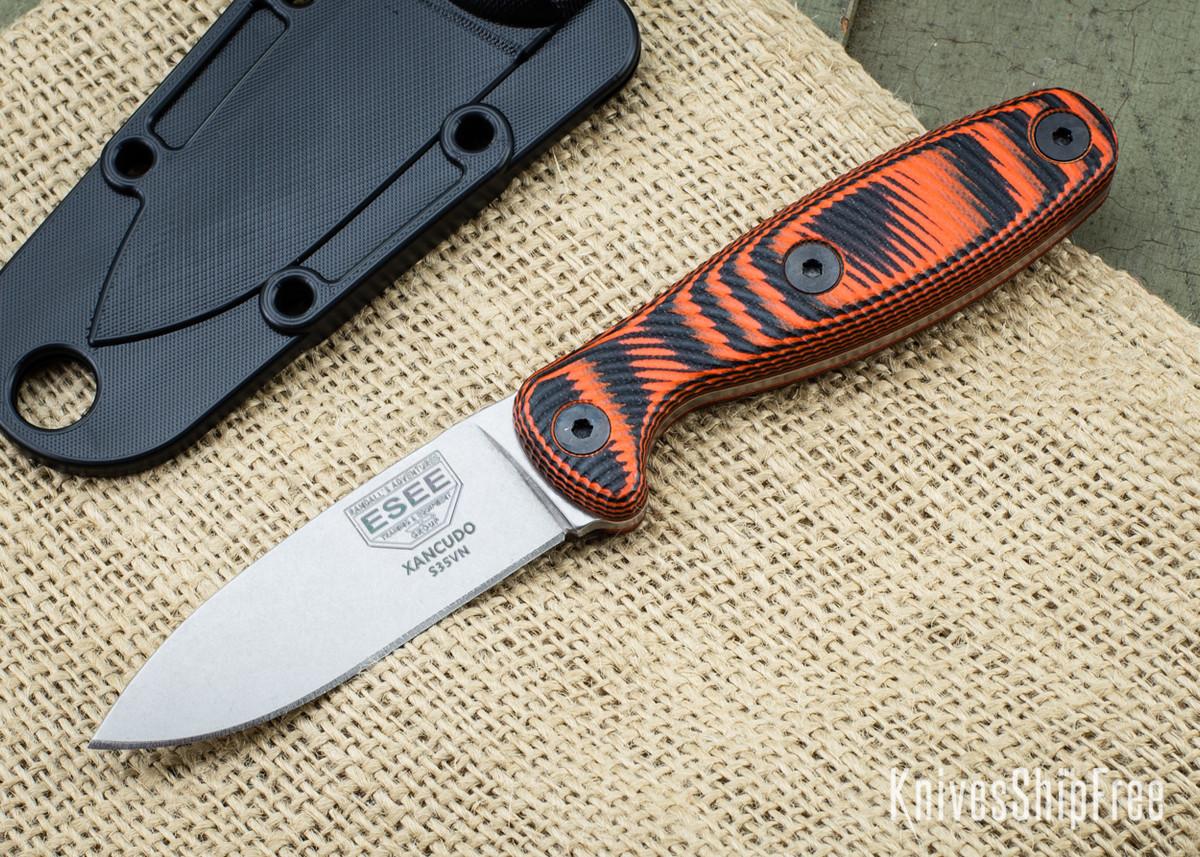 ESEE Knives: Xancudo S35VN - Black & Orange 3D G-10 primary image