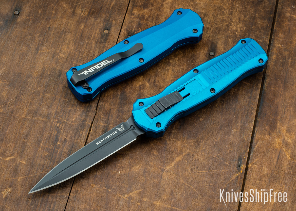Benchmade Knives: 3300BK-2001 Infidel - Limited Edition - Blue Anodized Aluminum - CPM S30V - Black DLC primary image