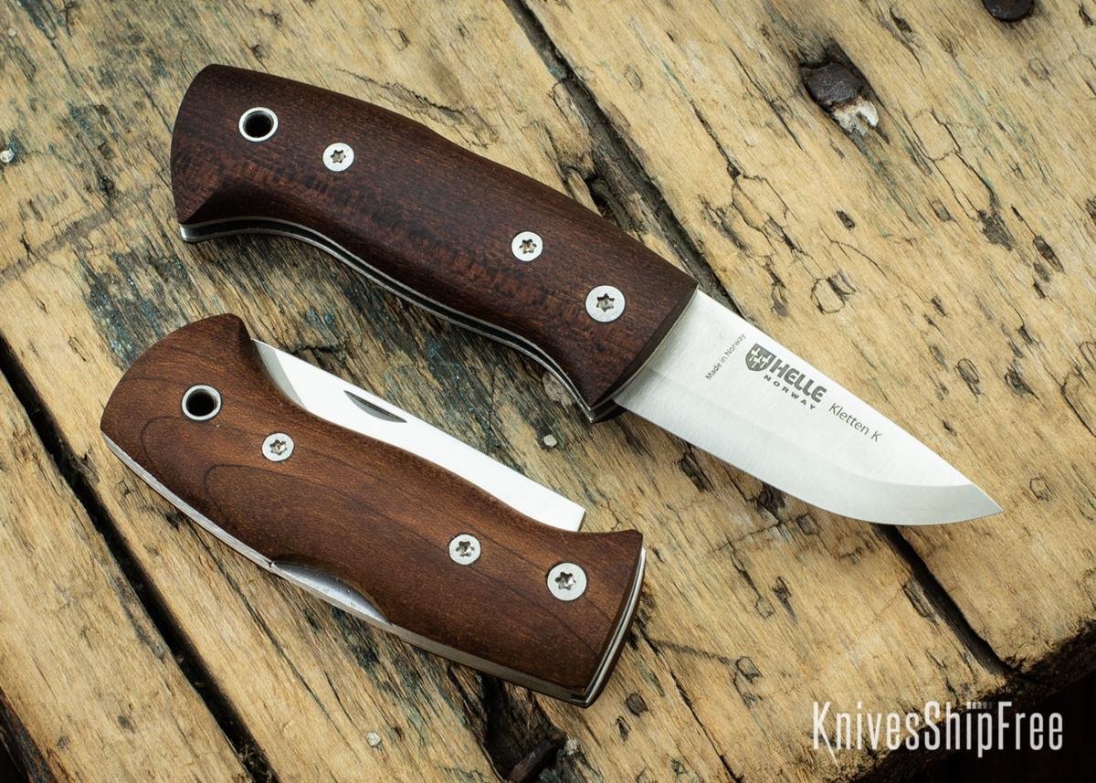 Helle Knives: Kletten - Scandi Lockback Folder - Kebony Stabilized Wood - Triple Laminated Stainless Steel primary image
