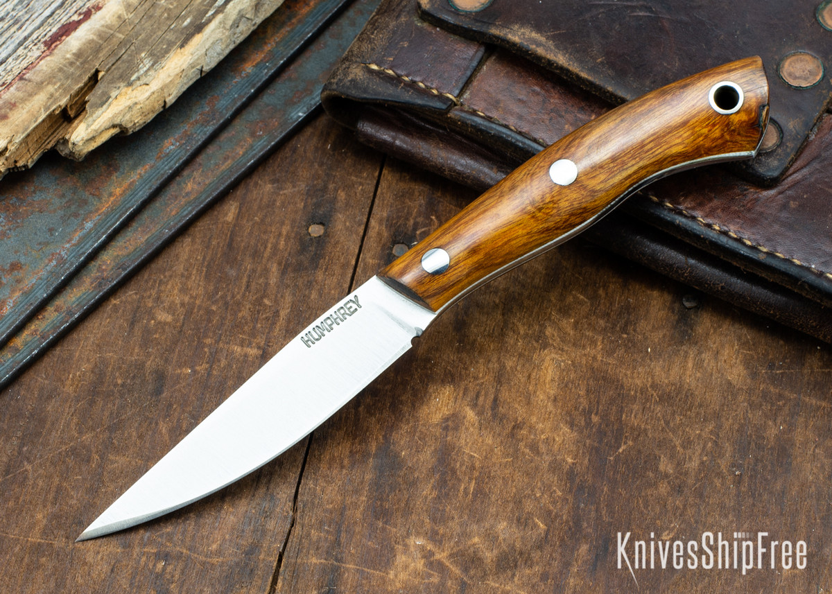 Lon Humphrey Knives: Bird & Trout AEB-L - Desert Ironwood - White Liners - 092973 primary image