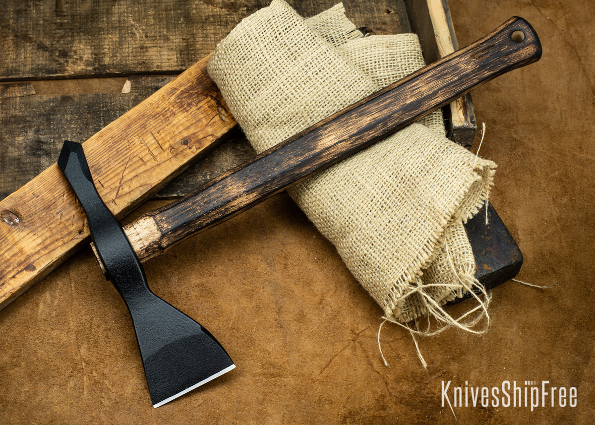American Tomahawk: Model 1 - Gold Point Forge Edition - Hickory Handle - Drop-Forged 1060 Steel - Black Powdercoat primary image