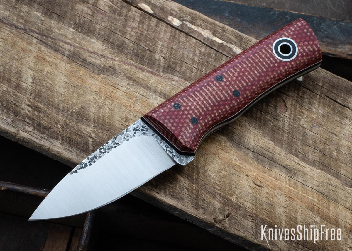 Fiddleback Forge: Pocket Kephart - Firedog Micarta - Black & White Liners - 8670 Tool Steel primary image