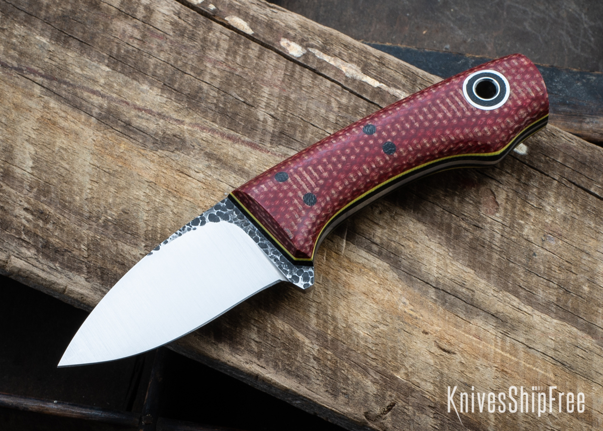 Fiddleback Forge: Lil SnowBill - Firedog Micarta - Black & Yellow Liners - 8670 Tool Steel primary image