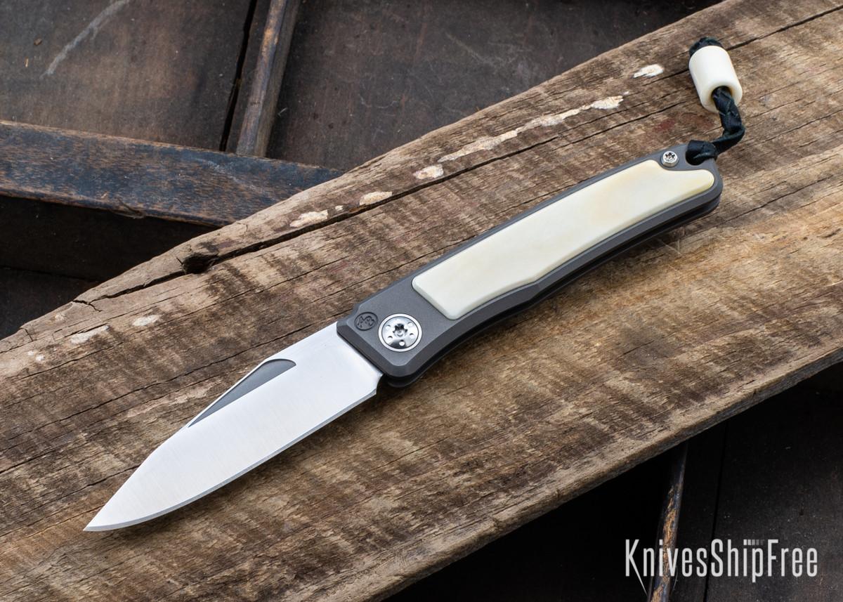 Arno Bernard Knives: Rinkhals Titanium Slipjoint - Warthog Tusk - 101604 primary image