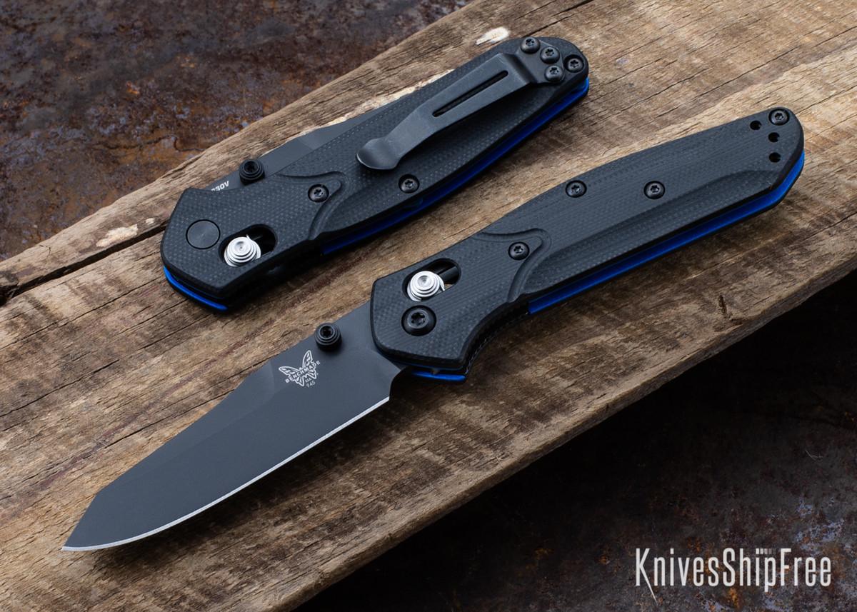 Benchmade Knives: 945BK-1 Mini Osborne - Black G-10 - CPM-S30V primary image
