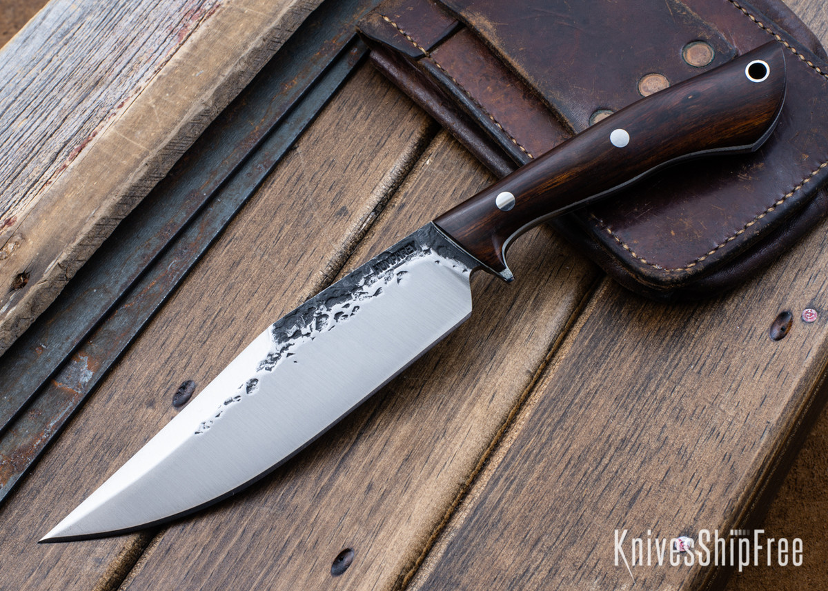 Lon Humphrey Knives: Hickok - Forged 52100 - Desert Ironwood - White Liners - 120303 primary image