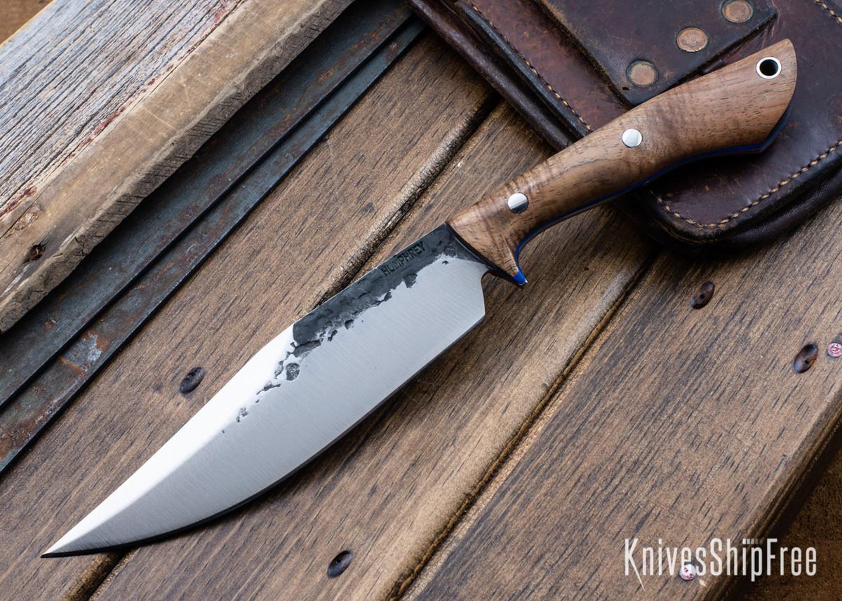 Lon Humphrey Knives: Hickok - Forged 52100 - Tasmanian Blackwood - Blue Liners - 120326 primary image
