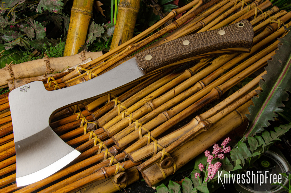 Bark River Knives: Hunter's Ax - Coffeebag - Brass Pins primary image