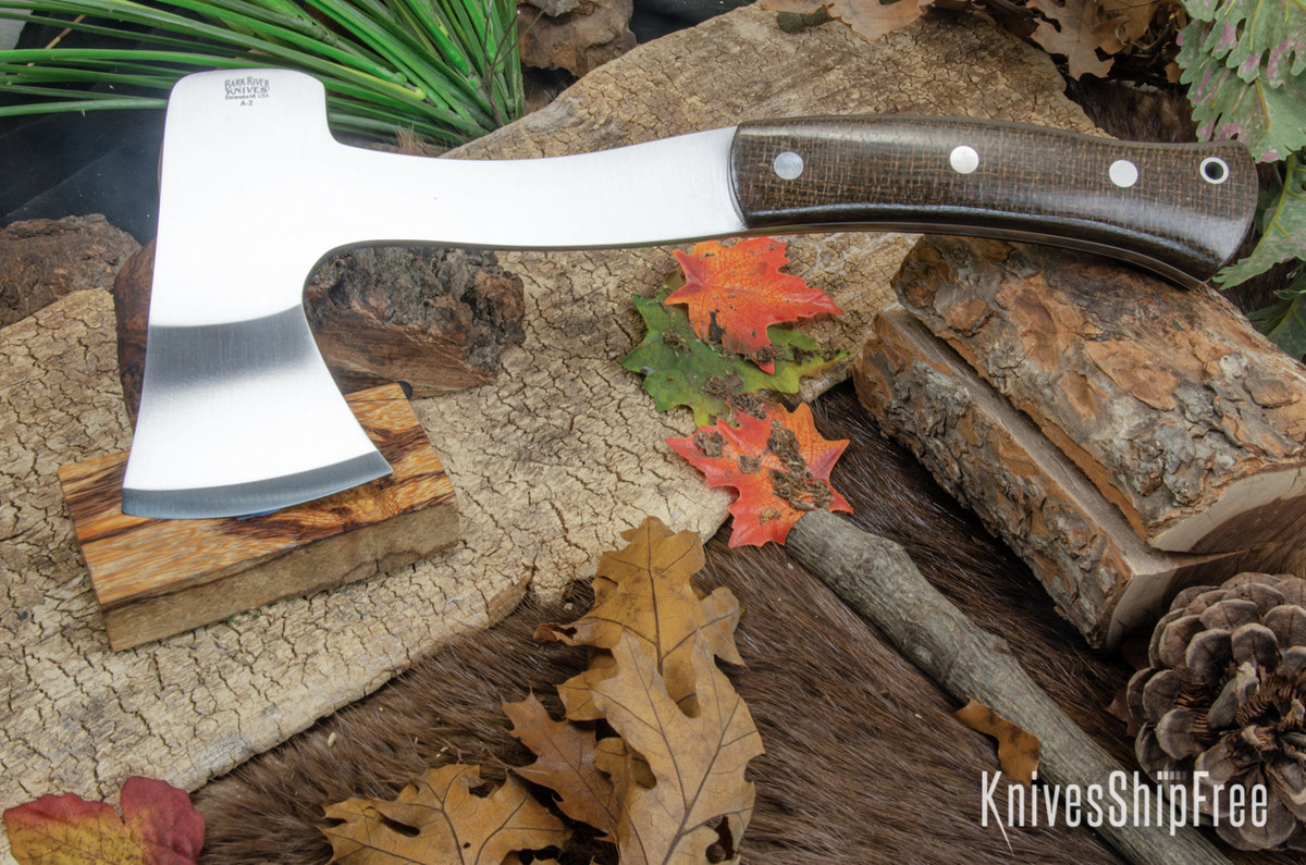 Bark River Knives: Hunter's Ax - OD Green Burlap Micarta - White Liners primary image