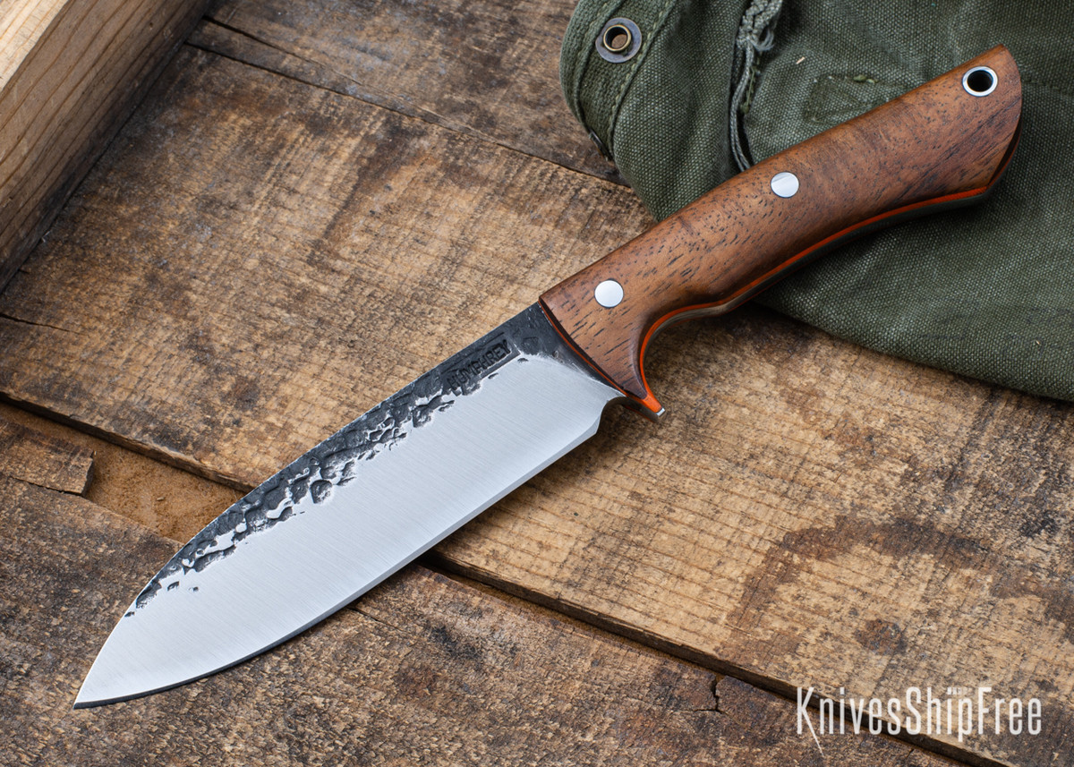 Lon Humphrey Knives: Alpha - Forged 52100 - Tasmanian Blackwood - Orange Liners - LH25AG089 primary image