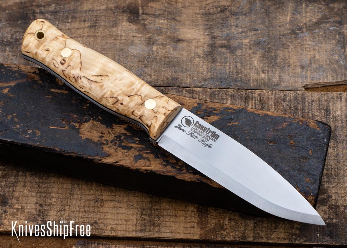 Casstrom: Lars Falt Bushcraft Knife - Sleipner Tool Steel - Curly Birch - CA24BG006 primary image