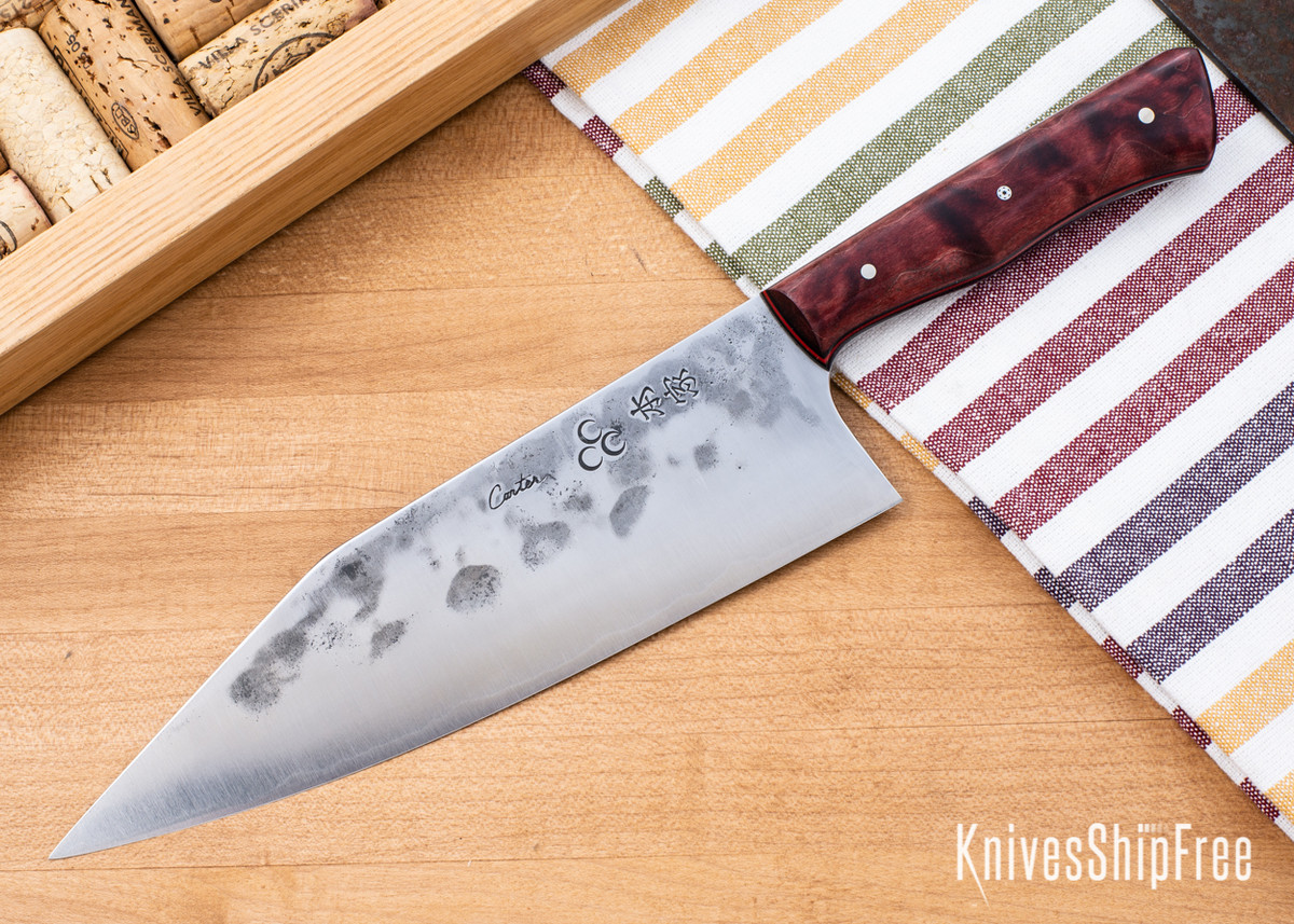 Carter Cutlery: Freestyle - Dyed Maple - Black & Cherry Red Liners - CC05EG004 primary image