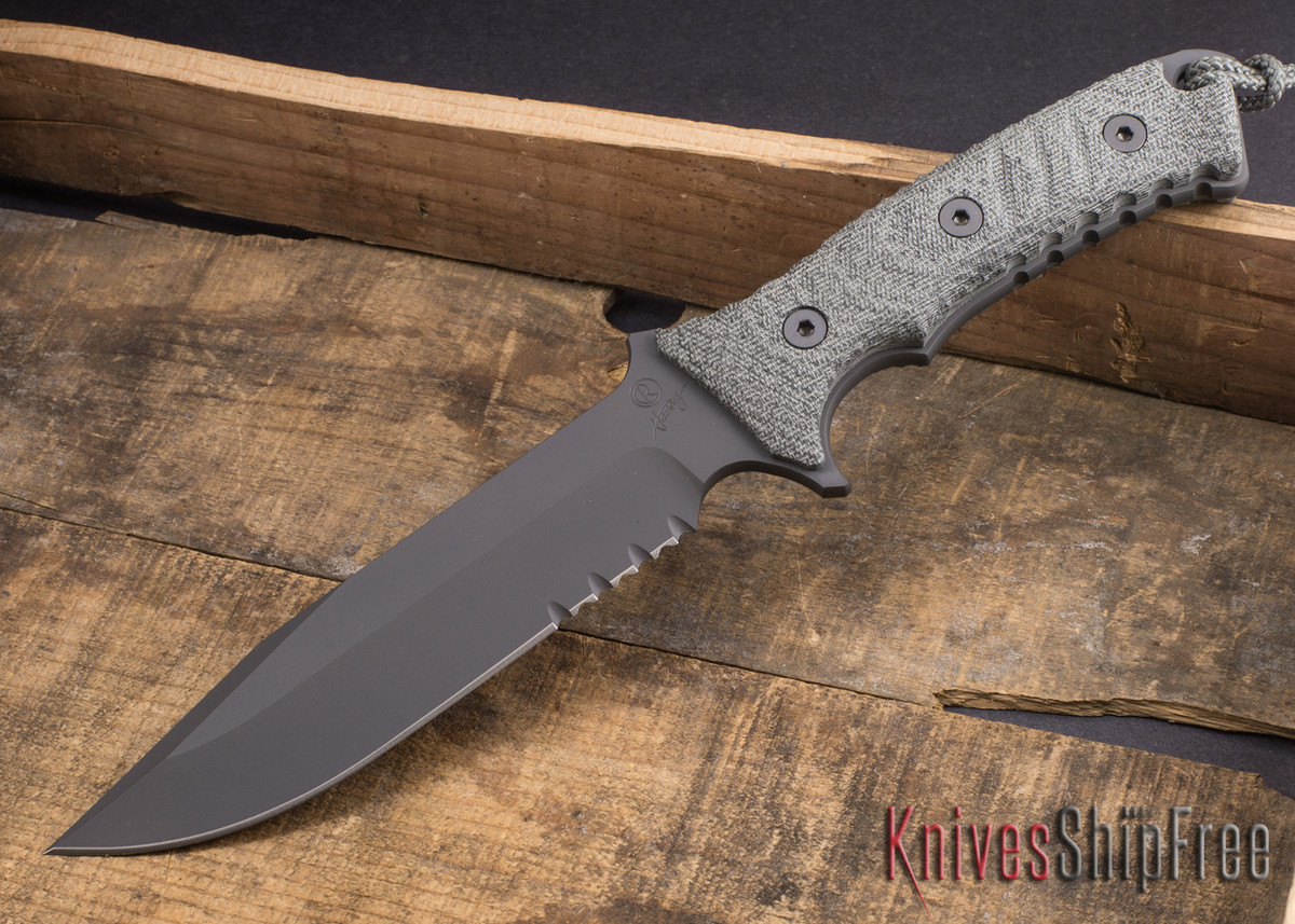 Chris Reeve Knives: Pacific - Black Blade - Serrated primary image