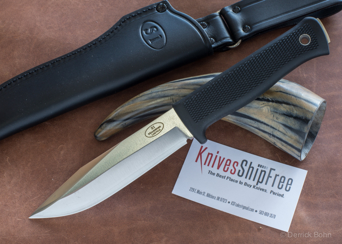 Fallkniven: S1 Forest Knife - Laminated VG10 Steel - Satin Blade - Leather Sheath primary image
