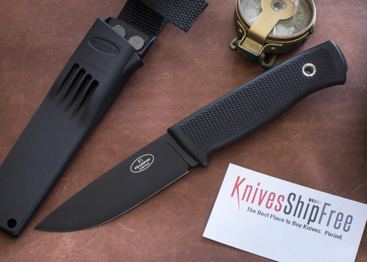 Fallkniven: F1 Swedish Military Survival Knife - VG-10 - Black Blade - Zytel Sheath primary image