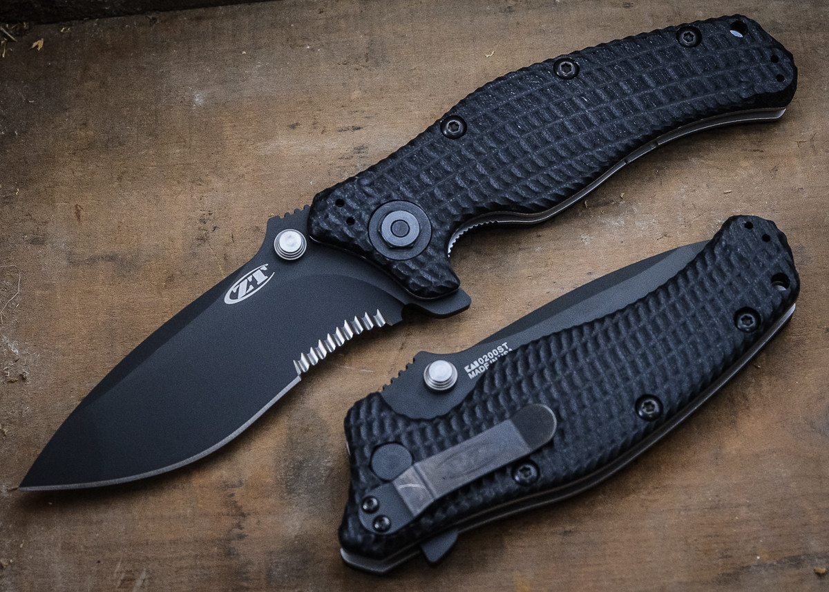 Zero Tolerance: 0200ST - Military Folder - Partially Serrated Blade primary image