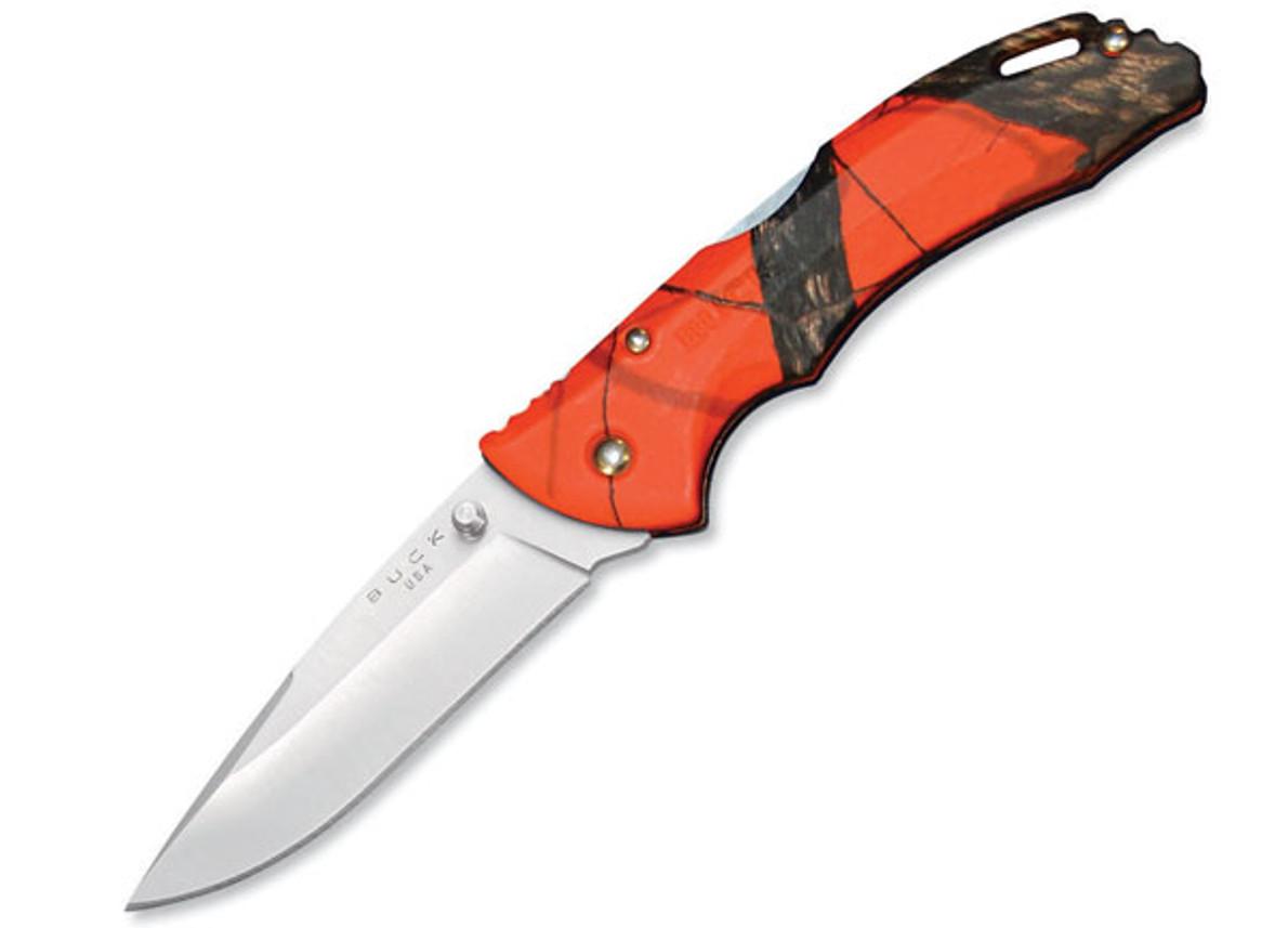 Buck Knives: Bantam - BLW - Mossy Oak Blaze Orange Camo primary image