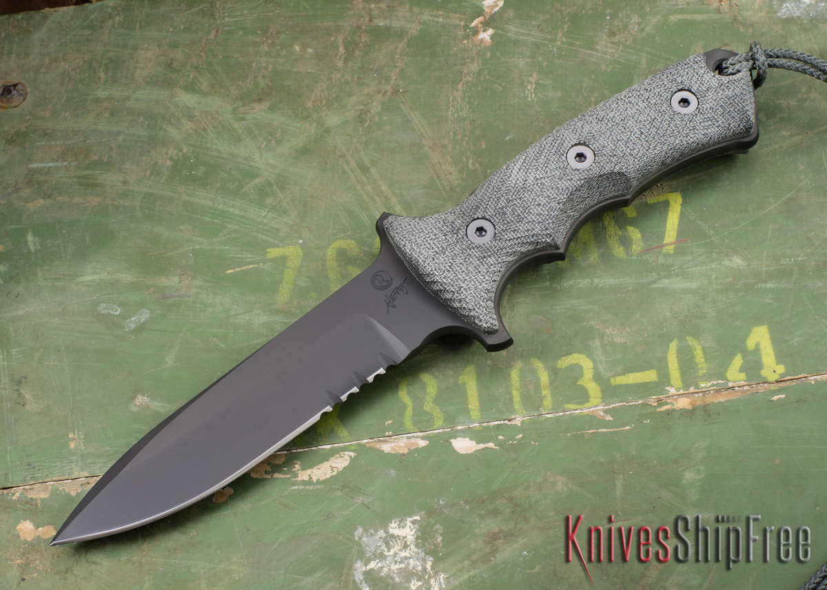 "Chris Reeve Knives: Green Beret - 5.5"" - Black KG Gun Kote - Serrations primary image"