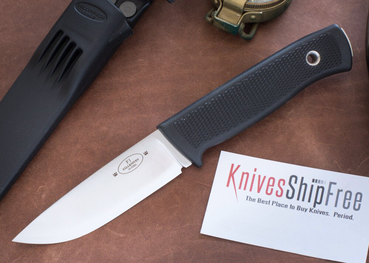 Fallkniven: F1 Swedish Military Survival Knife - 3G - Satin Blade - Zytel Sheath primary image