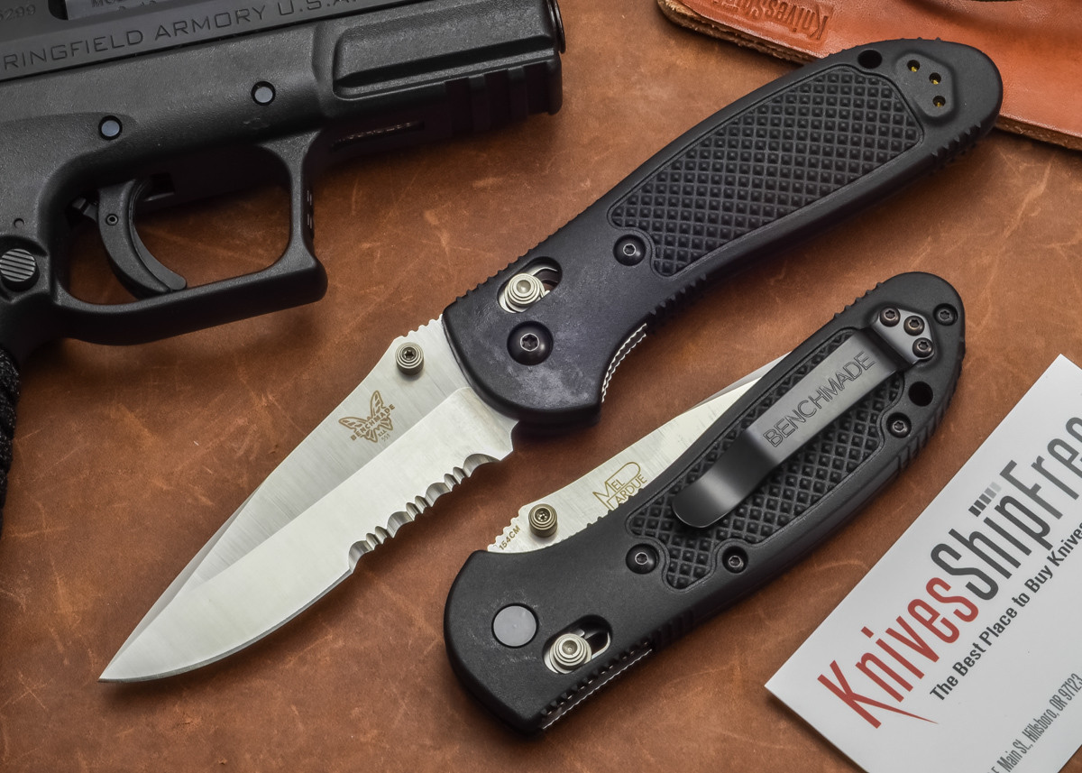 Benchmade Knives: 551S Griptilian - Modified Drop Point - Serrated primary image