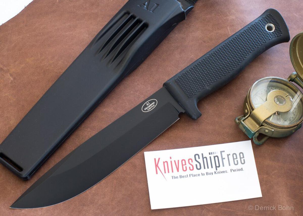 Fallkniven: A1 BZ - Army Survival Knife - VG-10 - Black Blade - Zytel Sheath primary image