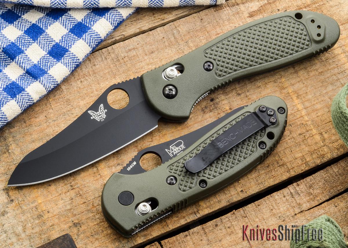 Benchmade Knives: 550BKHGOD Griptilian - Black Blade - OD Scales primary image