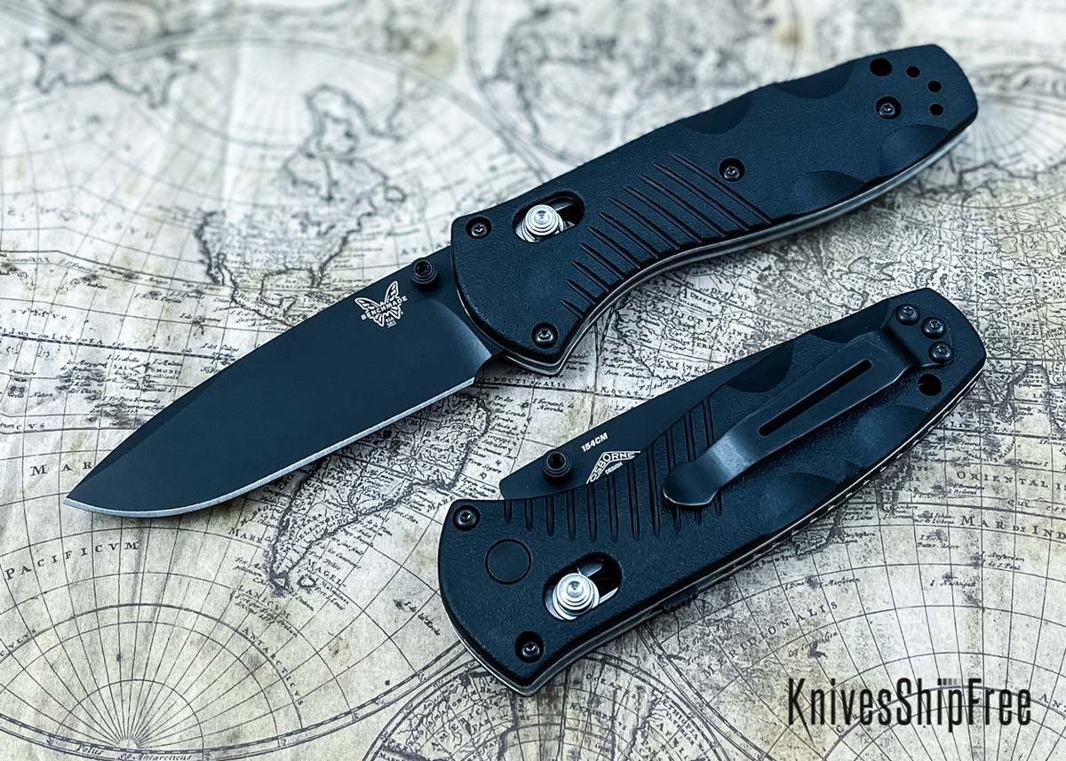 Benchmade Knives: 585BK Mini Barrage - Black Blade - AXIS Assist primary image