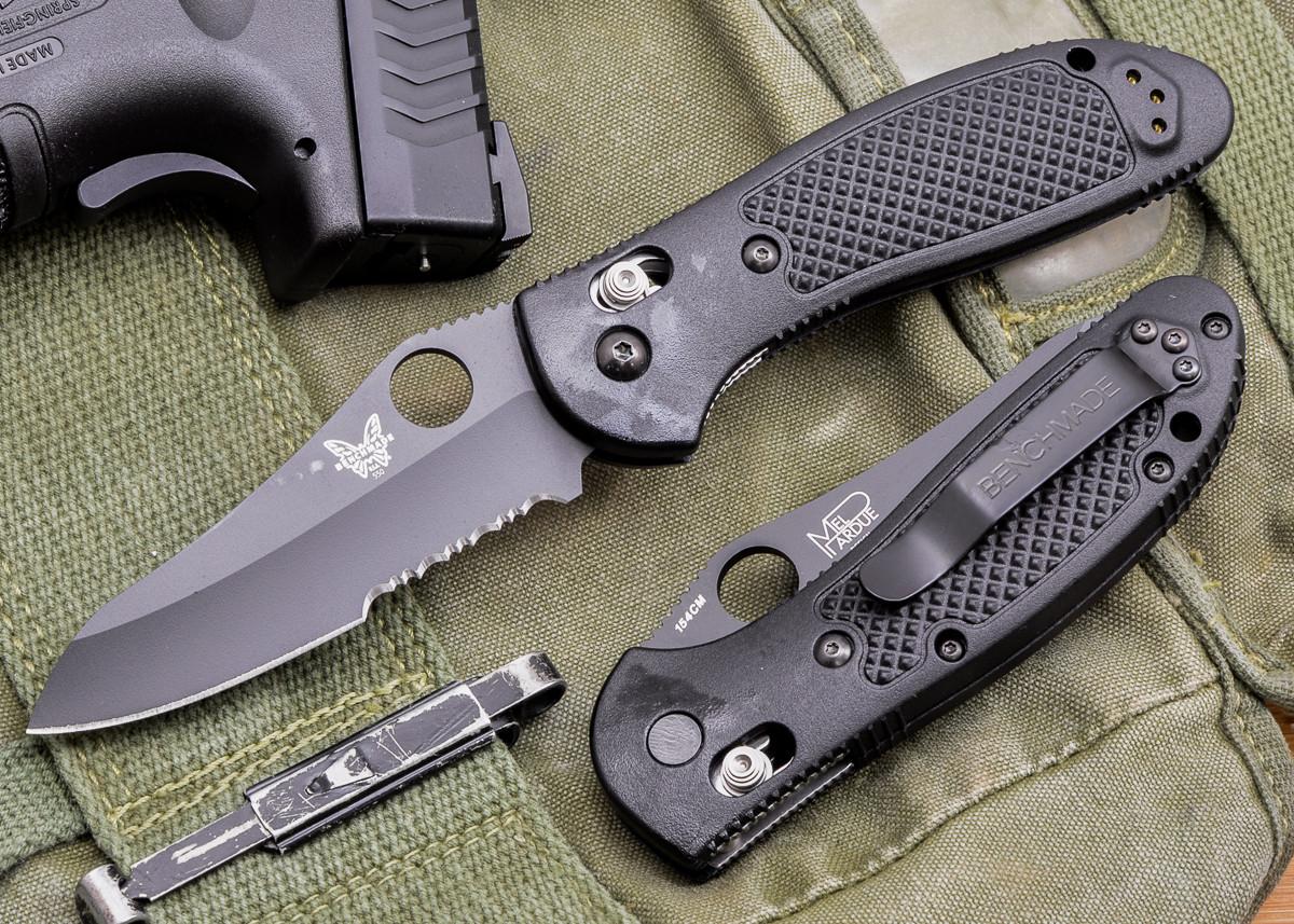 Benchmade Knives: 550SBKHG Griptilian - Black Sheepsfoot Blade - Serrated primary image