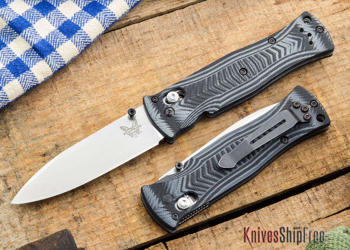 Benchmade Knives: 531 Pardue - Axis Lock - Textured G-10 - Drop Point