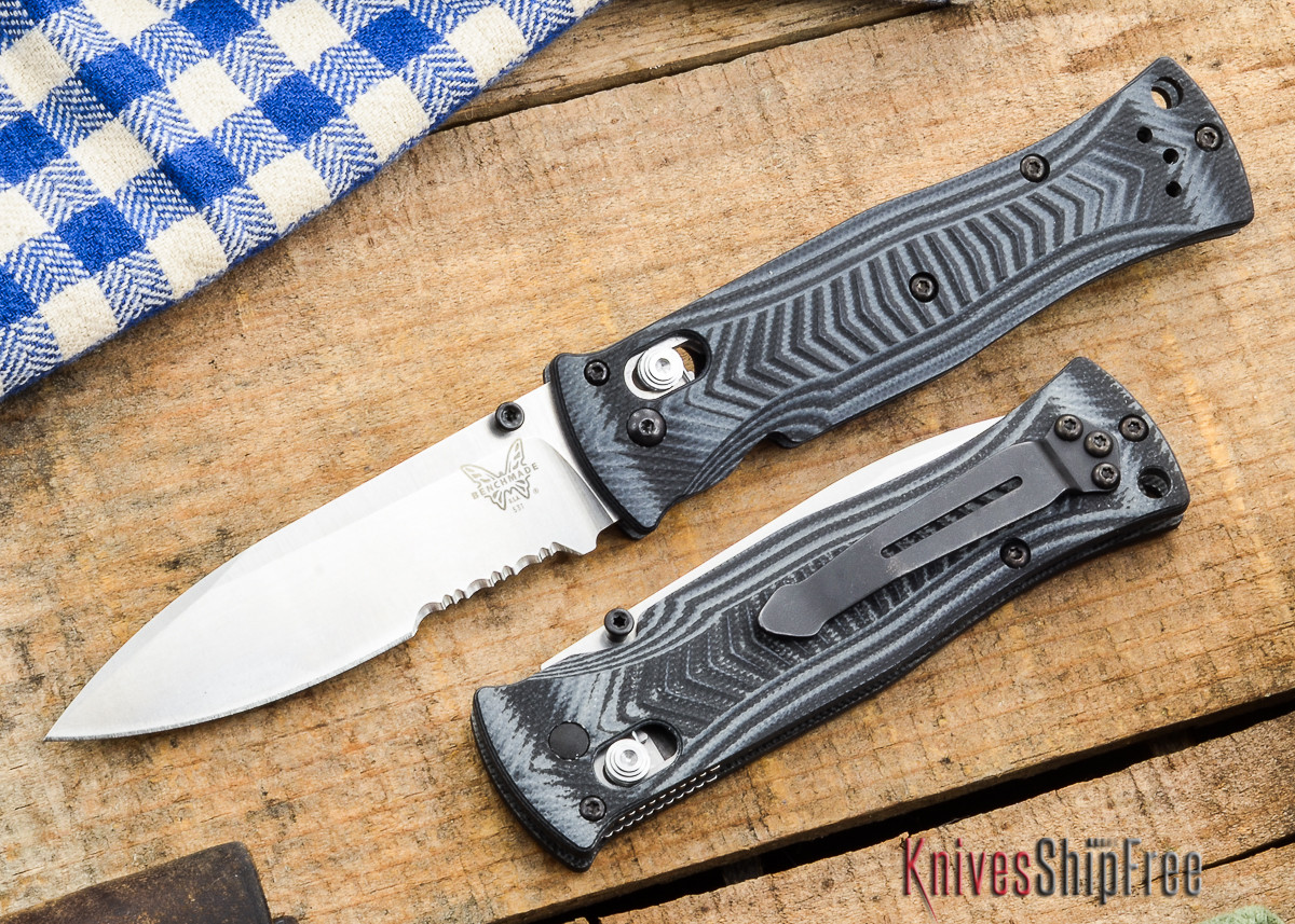 Benchmade Knives: 531S Pardue - Axis Lock - Textured G-10 - Drop Point - Serrated primary image