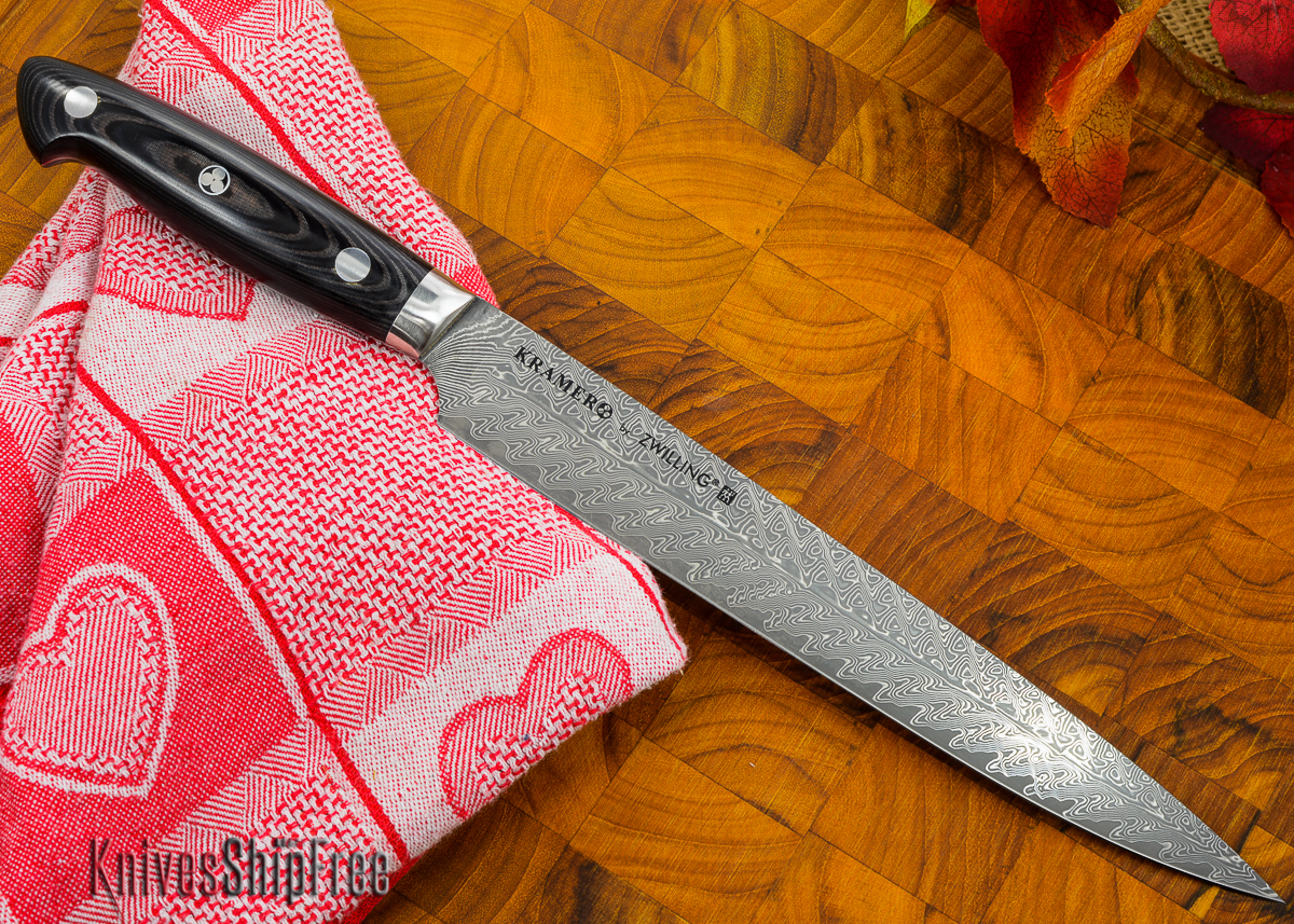 "Kramer by Zwilling: Euroline - 9"" Carving Knife - Stainless Damascus Collection primary image"