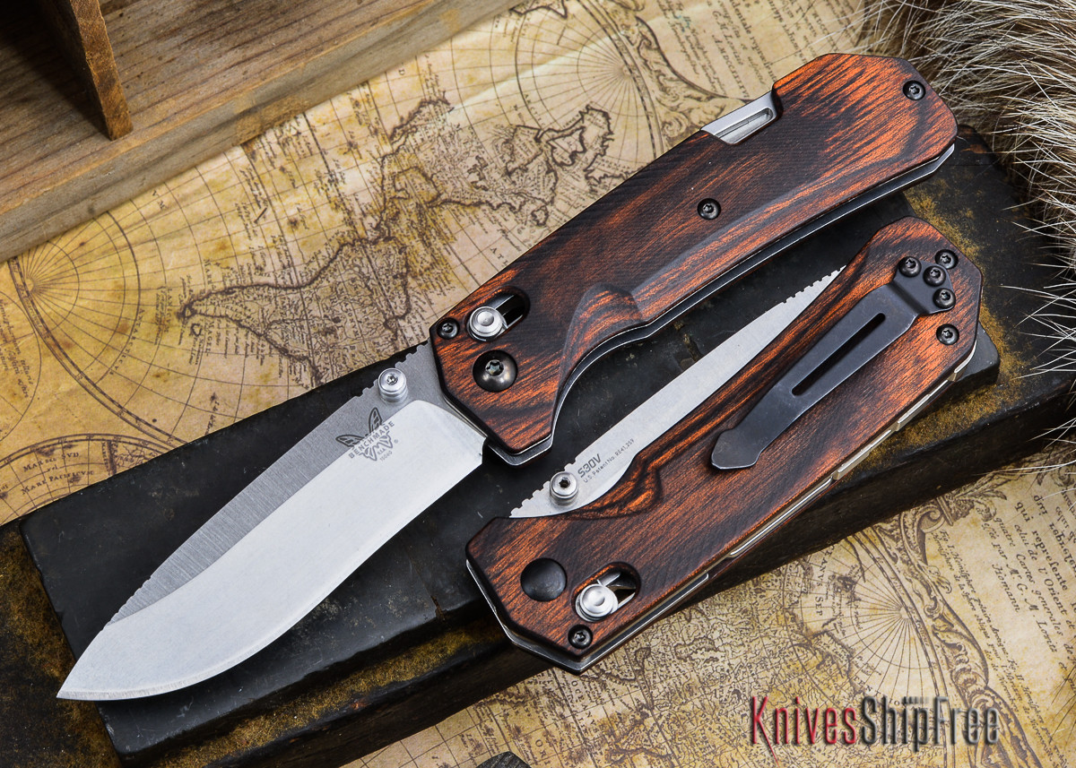 Benchmade Knives: 15060-2 HUNT - Grizzly Creek - Drop Point - Stabilized Wood primary image