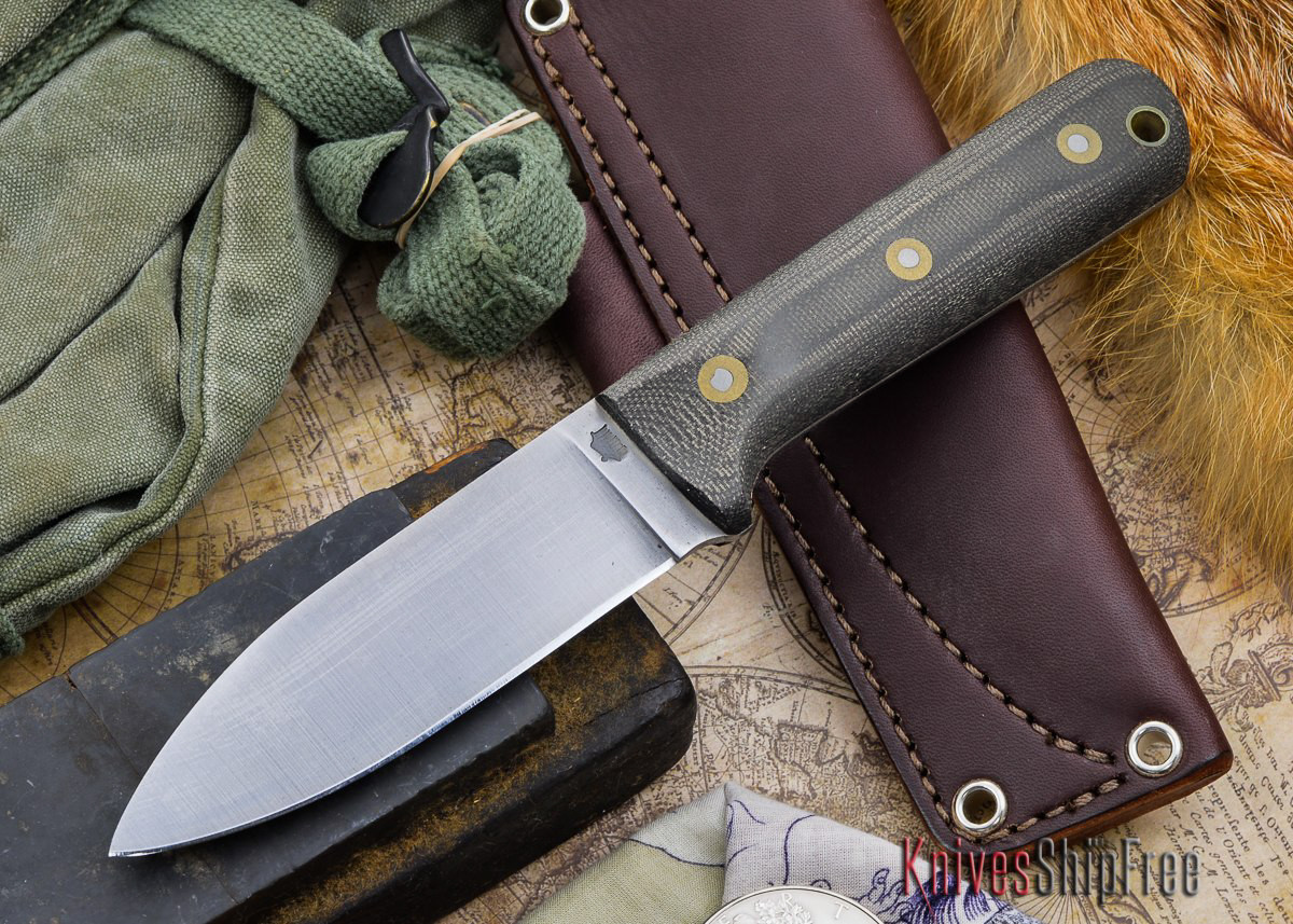 L.T. Wright Knives: Genesis - Bead Blasted Black Micarta - Flat Ground - A2 Steel primary image