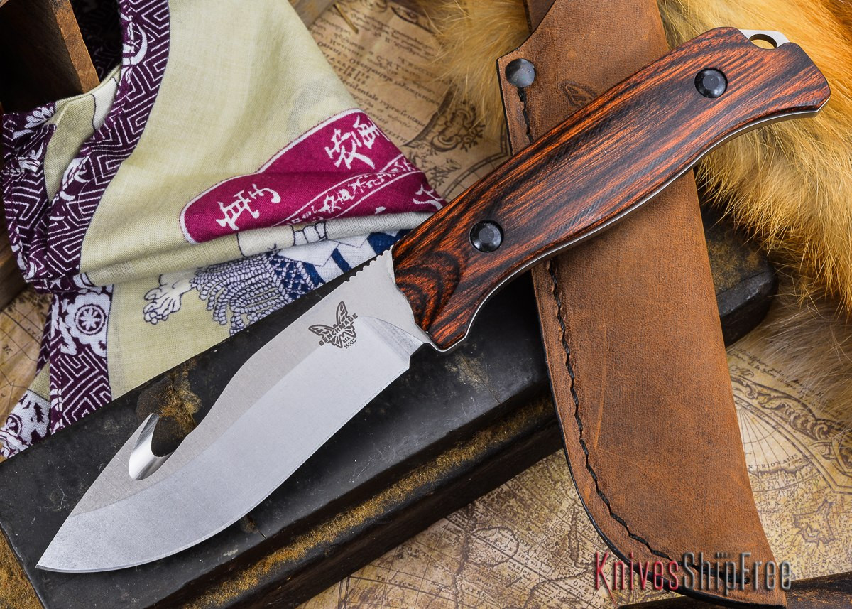 Benchmade Knives: 15003-2 HUNT - Saddle Mountain Skinner w/ Gut Hook -  Stabilized Wood primary image