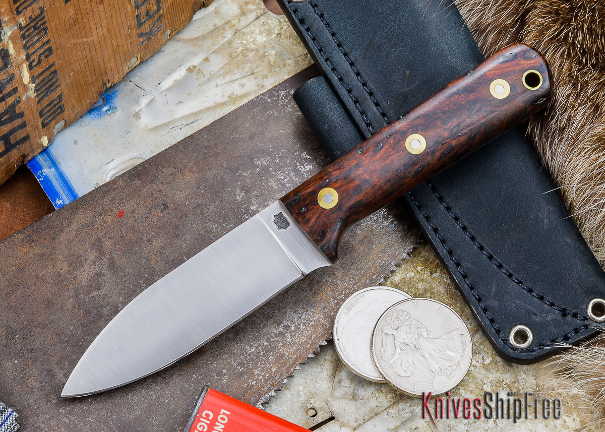 L.T. Wright Knives: Genesis - Desert Ironwood - Flat Ground - A2 Steel - #49 primary image