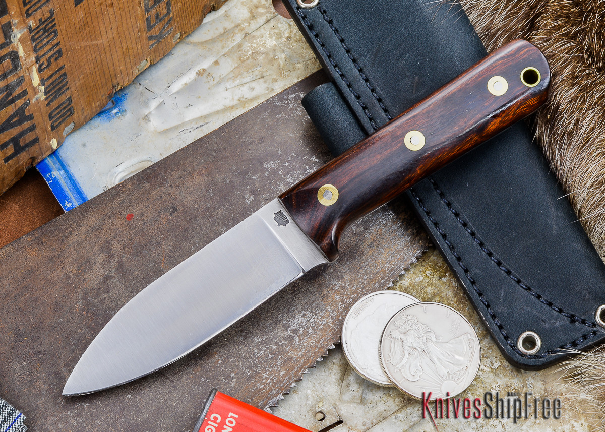 L.T. Wright Knives: Genesis - Desert Ironwood - Flat Ground - A2 Steel - #53 primary image