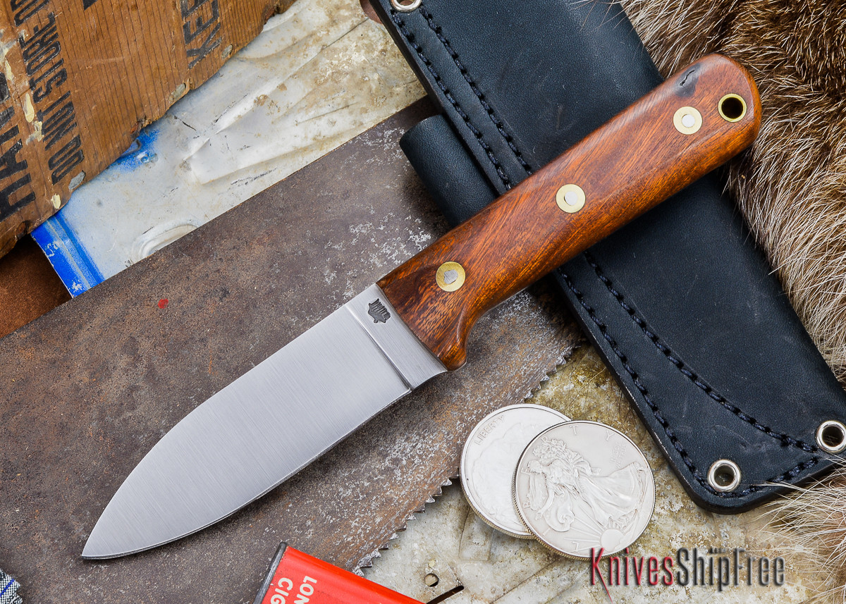 L.T. Wright Knives: Genesis - Desert Ironwood - Flat Ground - A2 Steel - #64 primary image