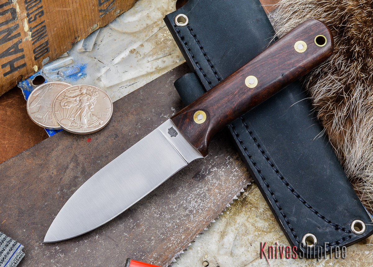 L.T. Wright Knives: Genesis - Desert Ironwood - Flat Ground - A2 Steel - #72 primary image