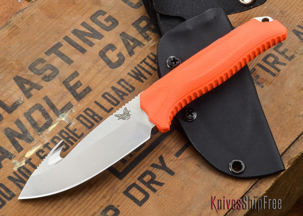 Benchmade Knives: 15009-ORG - Steep Country Hunter - Orange Santoprene - Gut Hook primary image