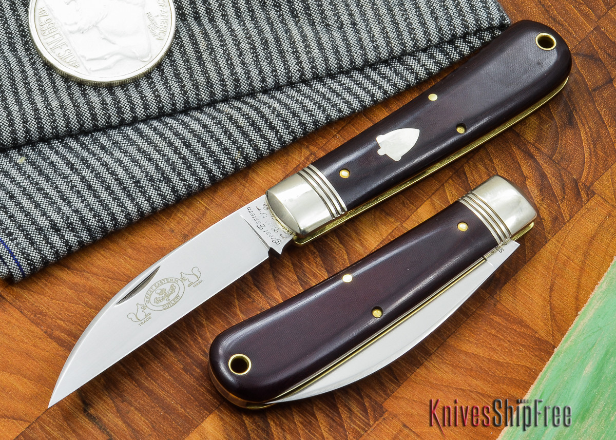 Great Eastern Cutlery: #47 - Viper - Maroon Linen Micarta primary image