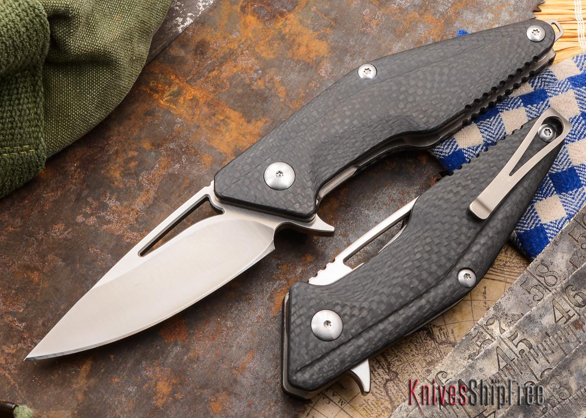 Brous Blades: Mini Division Flipper - Carbon Fiber - Satin Finish primary image