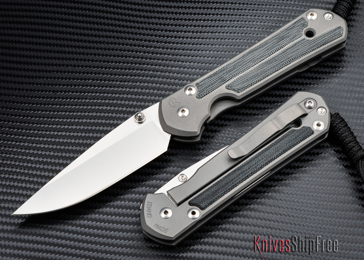 Chris Reeve Knives: Large Sebenza 21 - Black Canvas Micarta Inlay