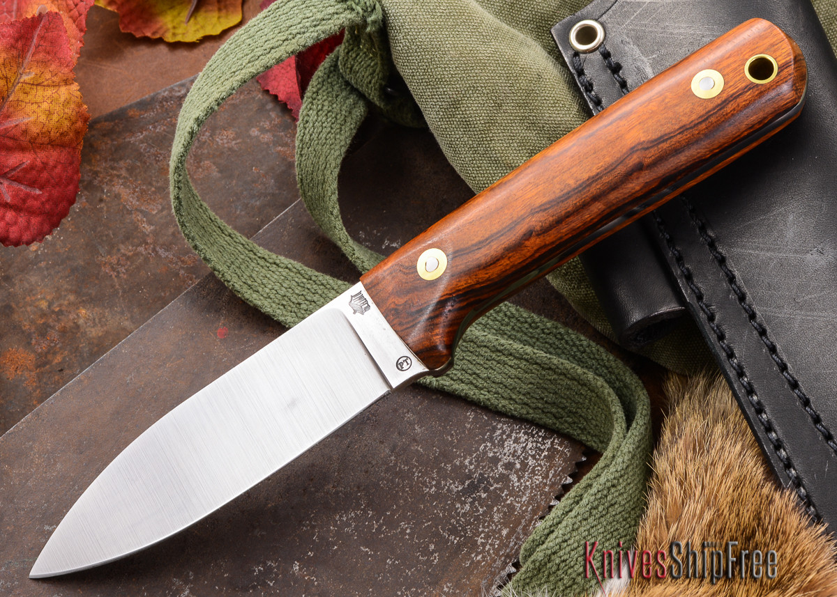 L.T. Wright Knives: Genesis PT - Desert Ironwood - Flat Ground - A2 Steel - #11 - Prototype primary image