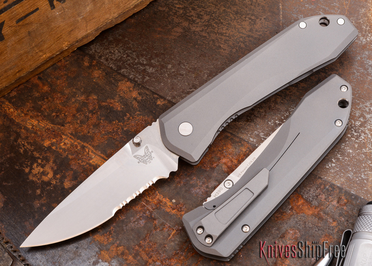 Benchmade Knives: 761S Monolock - Titanium - Partially Serrated - M390 primary image