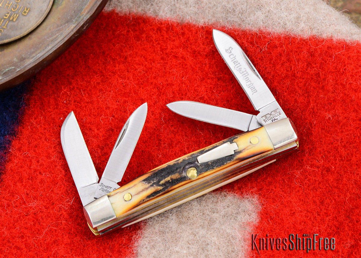Schatt & Morgan: Keystone Series - Mini-Congress - 4-Blade - Stag - #10 primary image