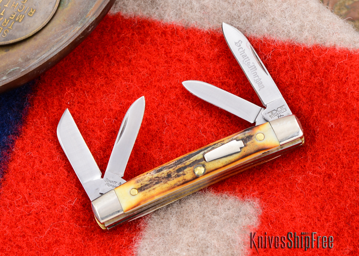 Schatt & Morgan: Keystone Series - Mini-Congress - 4-Blade - Stag - #16 primary image